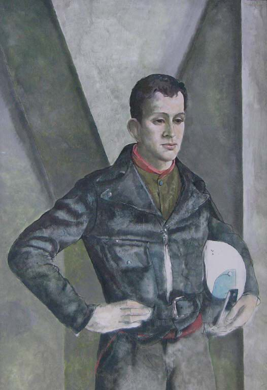 A67-140 - Fred Ross - Boy with White Helmet